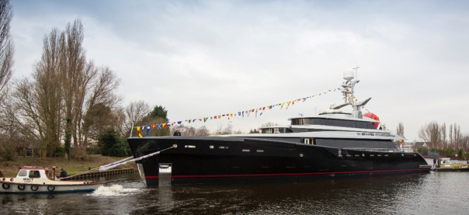 Luxury motor yacht KISS at launch