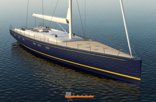 Luxury sailing yacht Hull 1012