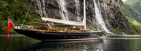 Luxury sailing yacht Wisp with interior design by Rhoades Young - Photo by Cory Silken