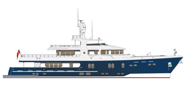 New 42m super yacht CS137 design by Cape Scott