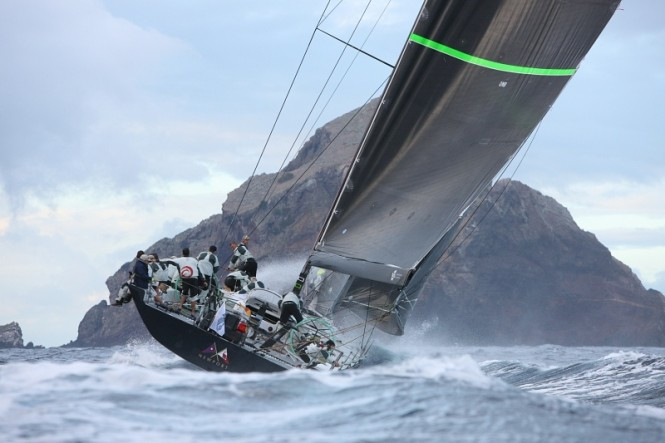 Overall runner-up in two editions of the RORC Caribbean 600. Hap Fauth's Maxi 72, Bella Mente (USA)  aim to make it third time lucky  © Tim Wright/Photoaction.com