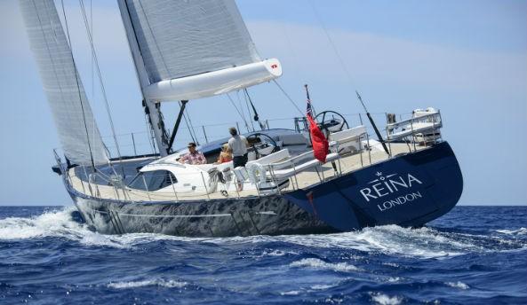 Oyster 825 superyacht REINA underway