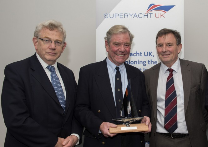 Piers Wilson receives inaugural Superyacht UK Lifetime Achievement Award - Photo credit to onEdition 2015