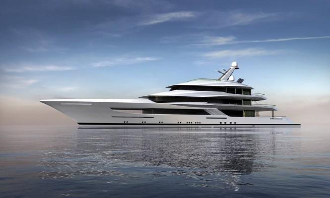 Rendering of superyacht Hull 812