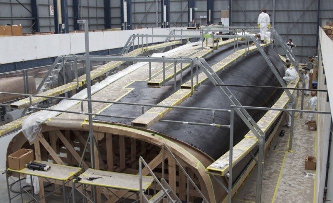Sailing yacht Hull 1012 under construction