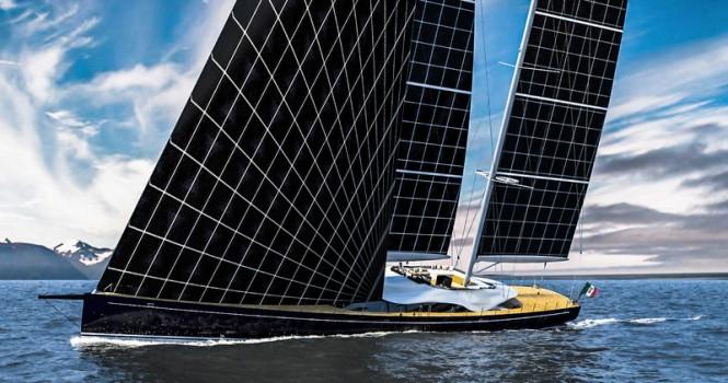 Superyacht Helios under sail