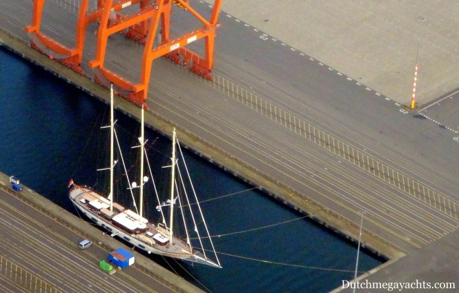 Superyacht Mikhail S Vorontsov from above