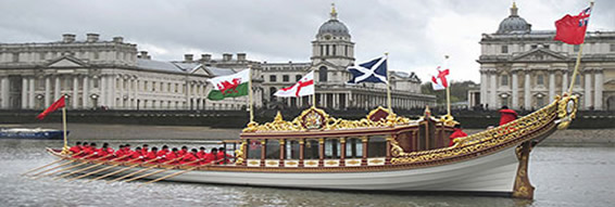 The Queen's Row Barge 'Gloriana'