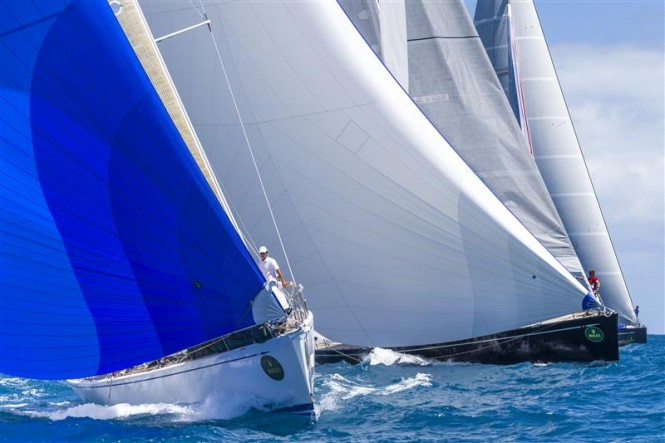 Tight competition in Class A at the Rolex Swan Cup Caribbean