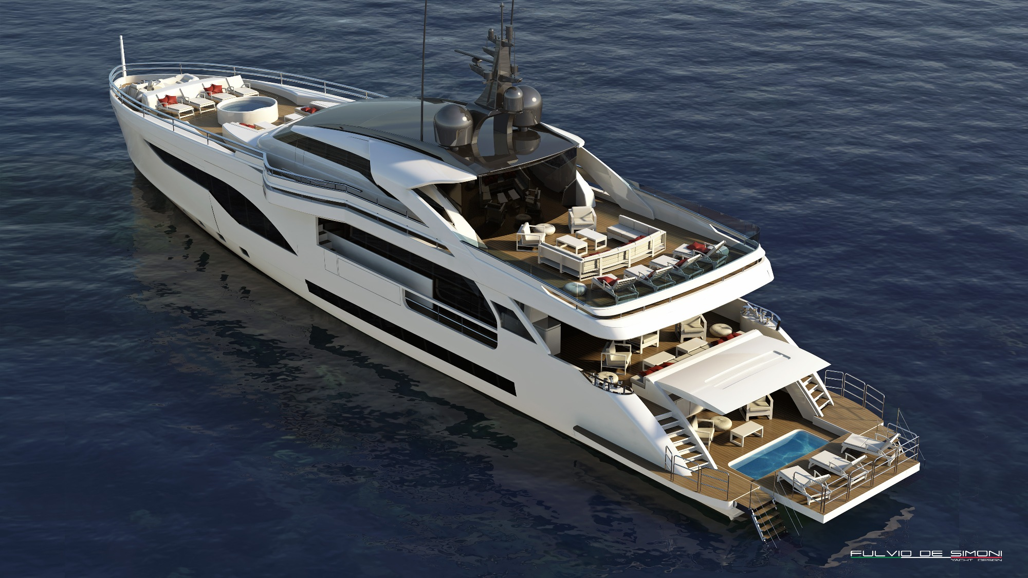 WIDER 125 Yacht - aft view — Yacht Charter & Superyacht News