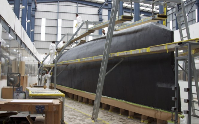 Works on Hull 1012 Yacht