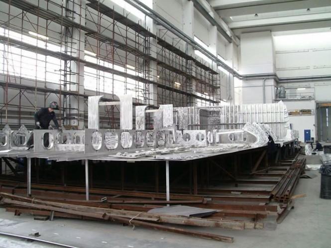 Works on Rossinavi Hull FR031 Yacht