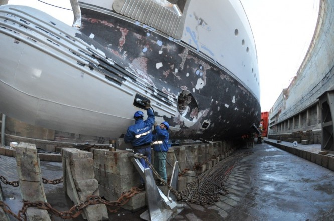 Works on superyacht Andreas L