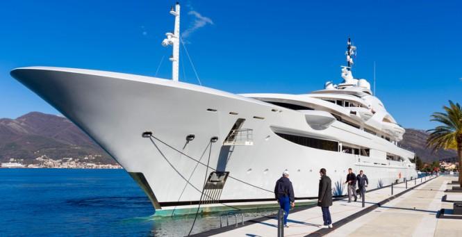 125m mega yacht MARYAH (Project Czar) at Porto Montenegro - Image credit to Porto Montenegro