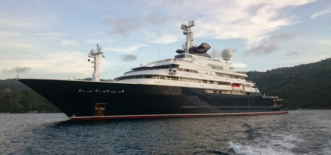 126m superyacht Octopus - Photo by Asia Pacific Superyachts Philippines