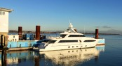 37m Moonen superyacht Crystal at Solent Refit