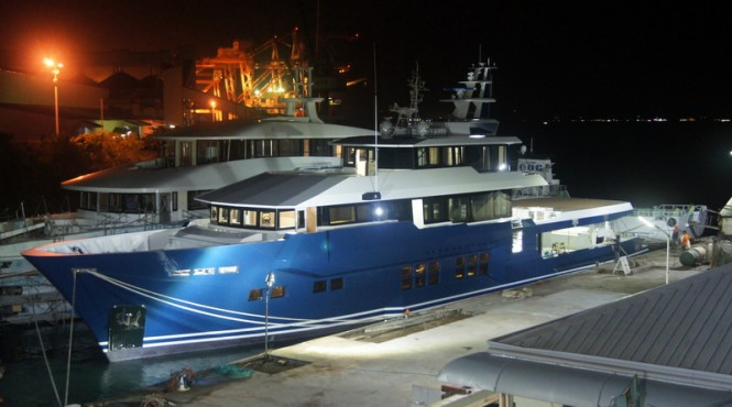 45m explorer motor yacht Cklass nearing completion at HYS Yachts