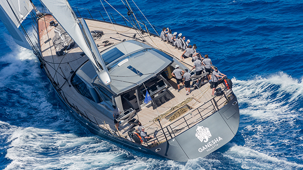 46 metre superyacht Ganesha made a strong start in Class A. Image by Carlo Borlenghi
