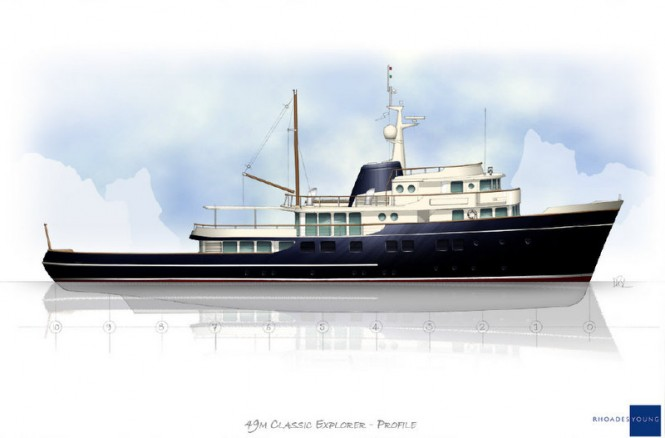 49m Rhoades Young superyacht concept