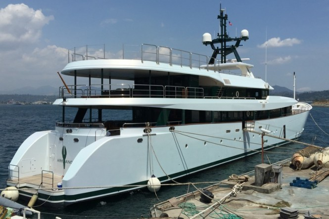 55m super yacht Ark Angel wrapped by HYS Yachts