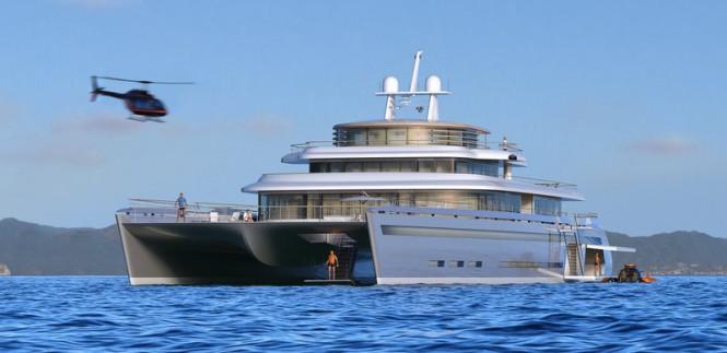71m catamaran mega yacht Manifesto concept by VPLP