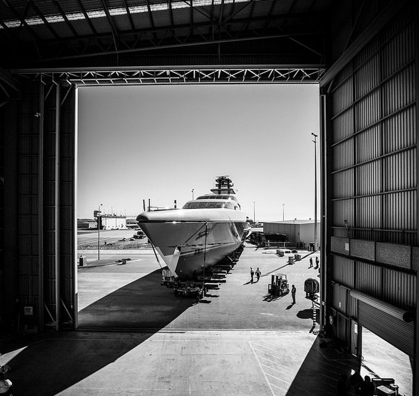 77m mega yacht Silver Fast at launch - Photo by Guillaume Plisson and Silver Yachts