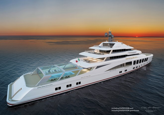 80m mega yacht Skyback with Crystal Beach project by Fincantieri and Cor D Rover