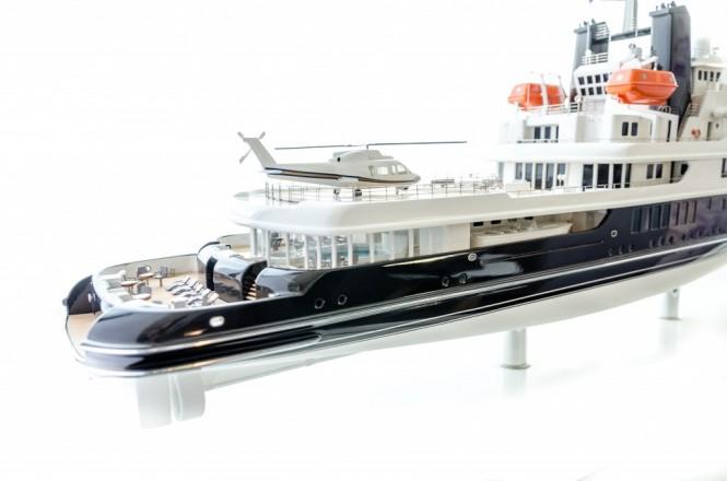 85m Vripack Explorer Yacht Concept - aft view - Image credit to Vripack