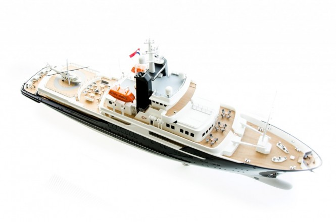 85m Vripack Explorer Yacht Concept from above - Image credit to Vripack