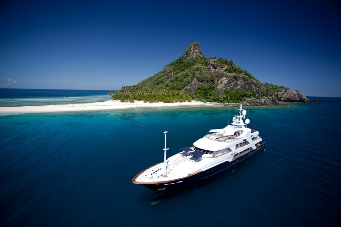 A Superyacht in the enchanting South Pacific yacht holiday location - Fiji - Photo Ming Nomchong and Luke Henkel