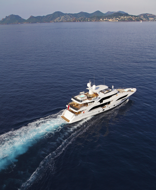 Benetti Classic Supreme 132 superyacht underway
