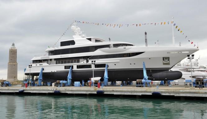 Benetti FB267 superyacht Surpina at launch