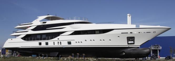 Benetti FB801 superyacht Vica at launch
