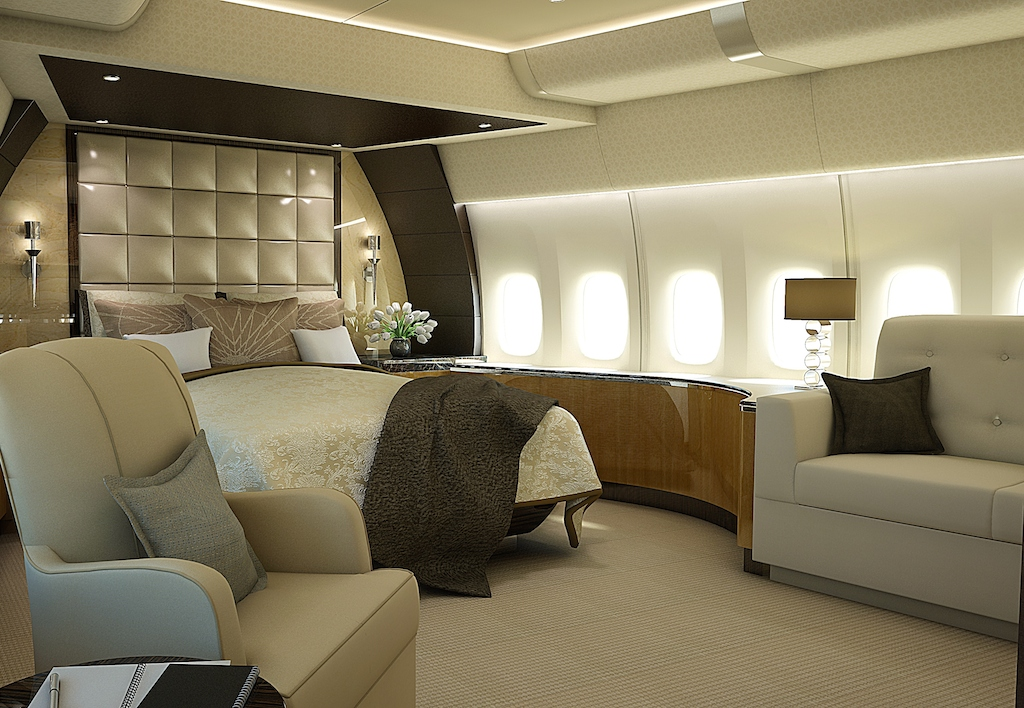 Greenpoint Luxury Jet 747 8 Stateroom Concept Image