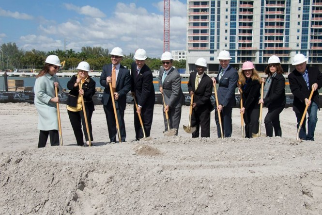 Groundbreaking event at Marina Palms