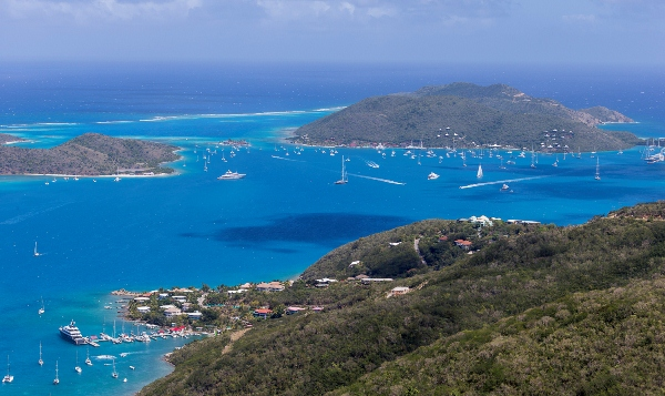 Ideal sailing conditions and clear waters surrounding Virgin Gorda ahead of the Regatta.
