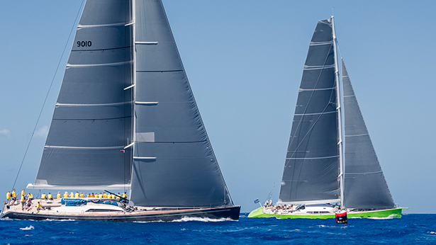 Inoui and Freya yachts finish seconds apart in idyllic racing conditions. Photo by Boat International and YCCS