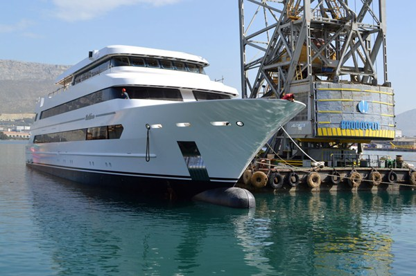 Launch of 60m mega yacht Katina- Photo by Brodosplit