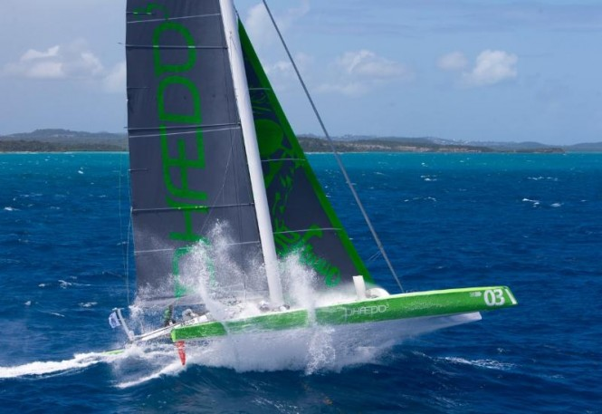 Lloyd Thornburg's MOD 70, Phaedo^3 smashed the race record ©RORC/Tim Wright/Photoaction.com