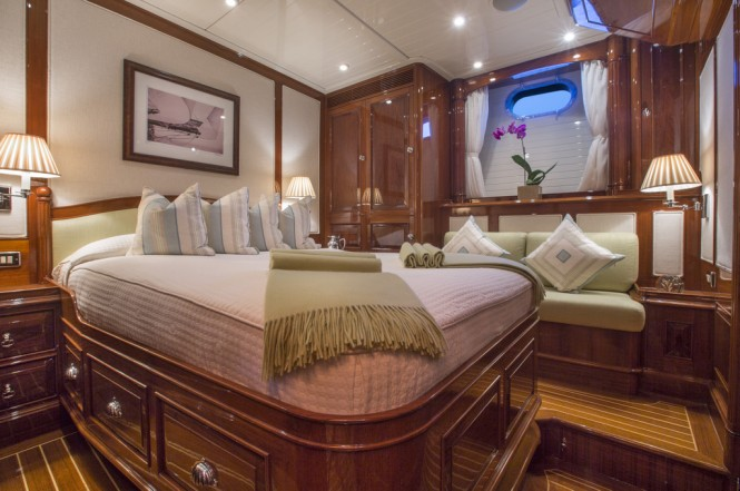 Luxury charter yacht Whisper - Cabin (Photo courtesy of Whisper)