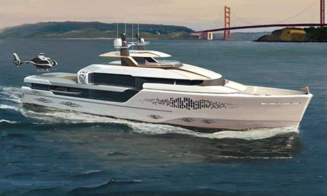 Luxury motor yacht FLOW design by Vripack Naval Architecture