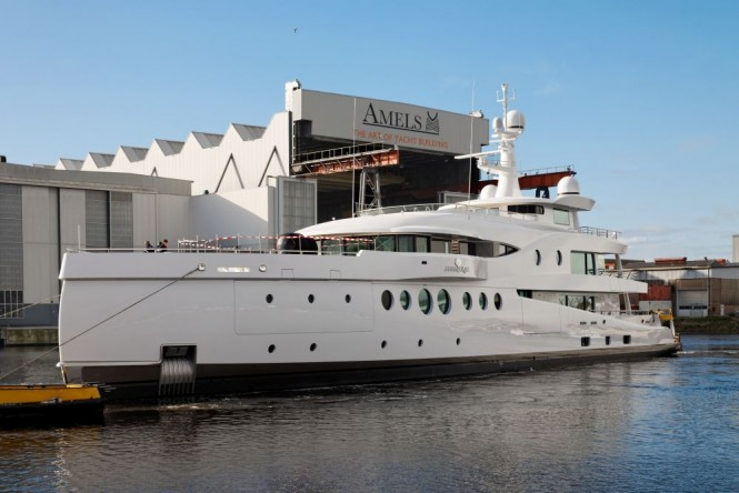 Luxury yacht MADAME KATE at launch