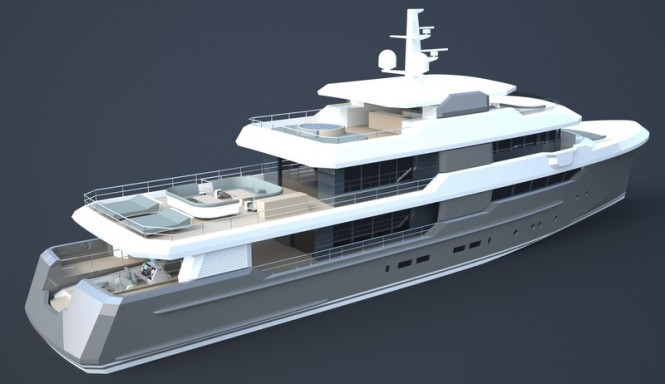 Luxury yacht OCEAN NOMAD concept - aft view
