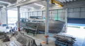 MCP 106 LE superyacht Hull no. 2 under construction