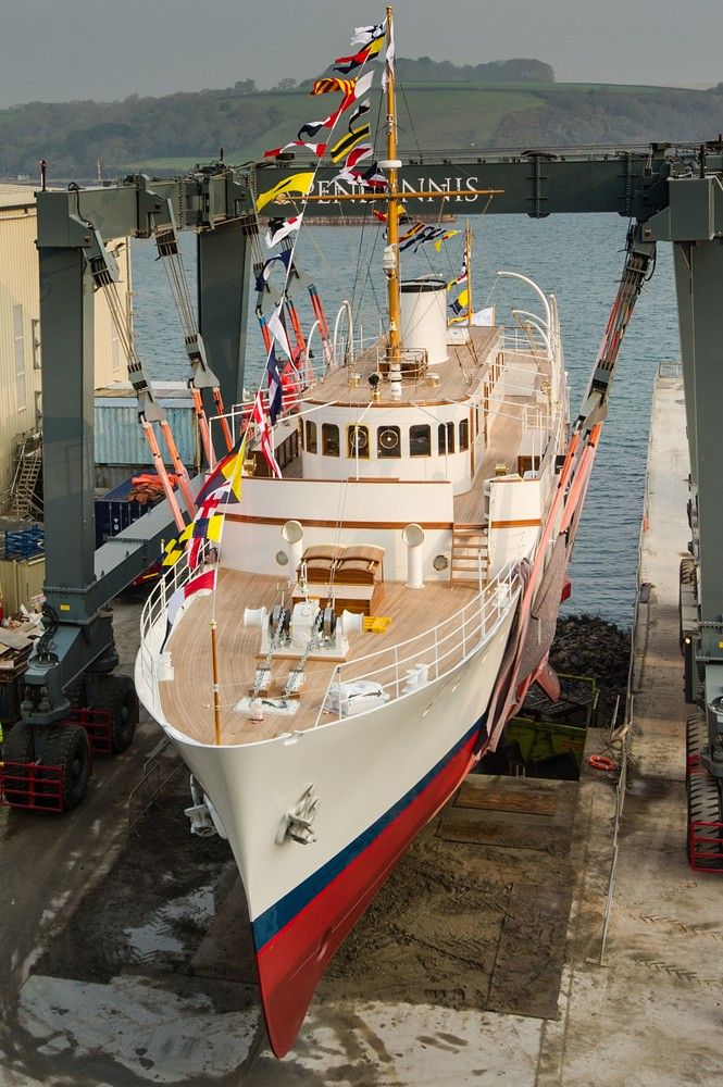 Malahne Yacht at her launch