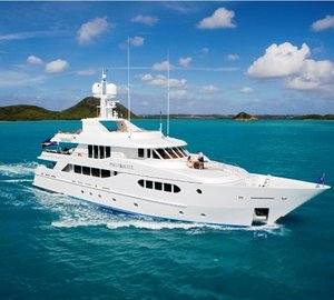 Superyacht PERLE BLEUE available for Caribbean and Bahamas Yacht Charter