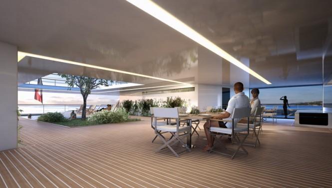 Motor yacht Manifesto concept - Terrace