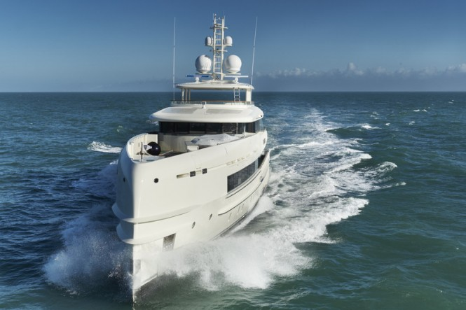 Motor yacht Sibelle - front view - Photo by Richards Visions and Heesen Yachts