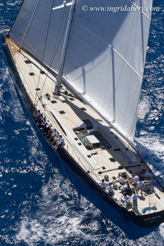 Nauta-designed superyacht Cape Arrow at the 2015 St. Barths Bucket Regatta