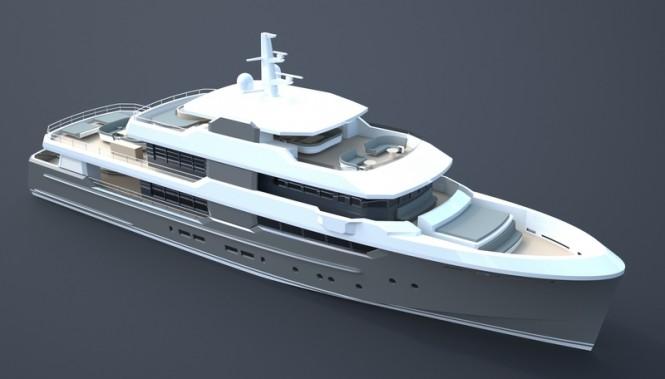 New 40m motor yacht OCEAN NOMAD concept by Van Geest Design